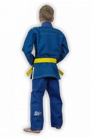 Фото 2 к товару Кимоно для бразильского джиу-джитсу детское Muri Oto Kiddo 0302 синее