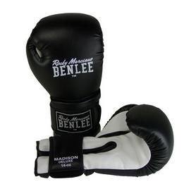 Фото 1 к товару Перчатки боксерские Benlee Madison Deluxe черно-белые