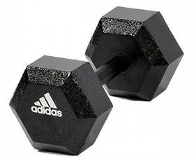 Фото 1 к товару Гантель гексагональная Adidas 5 кг черная