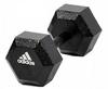 Гантель гексагональная Adidas 5 кг черная - фото 1
