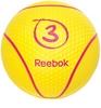 Медбол 3 кг Reebok желтый - фото 1