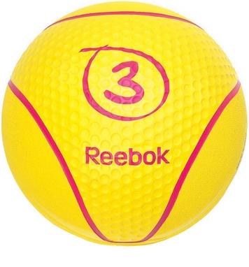 Медбол Reebok RAB-40123YL 3 кг желтый