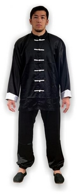 Форма для занятий кунгфу или ушу (ифу) из атласа Muri Oto 1115 черная