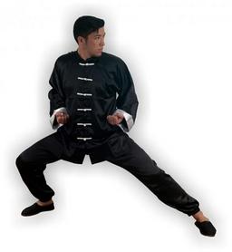 Фото 2 к товару Форма для занятий кунгфу или ушу (ифу) из атласа Muri Oto 1115 черная
