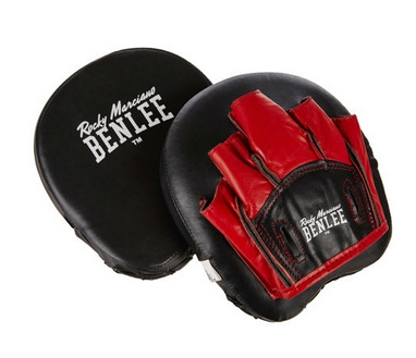 Шкіряна боксерська лапа Benlee BOON PAD чорно червоні