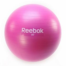 Фото 1 к товару Мяч для фитнеса (фитбол) 55 см Reebok розовый