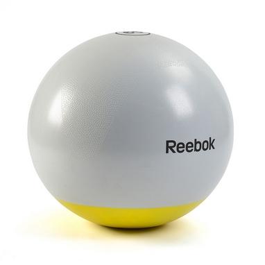 Мяч для фитнеса (фитбол) 75 см Reebok серый с желтым