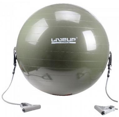 Мяч для фитнеса (фитбол) 65 см Live Up с эпандером