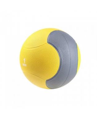 Мяч медицинский (медбол) LiveUp Medicine Ball 1 кг желто-серый