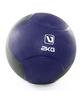Мяч медицинский (медбол) LiveUp Medicine Ball 2 кг сине-серый - фото 1