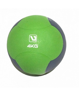 Мяч медицинский (медбол) LiveUp Medicine Ball 4 кг зелено-серый