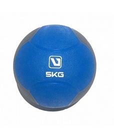 Мяч медицинский (медбол) LiveUp Medicine Ball 5 кг сине-серый