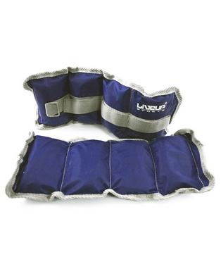 Утяжелители 2 шт по 1 кг LiveUp Wrist/Ankle Weight