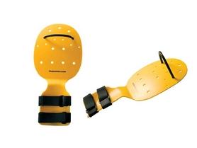 Лопатки для плавания Finis Bolster желтые