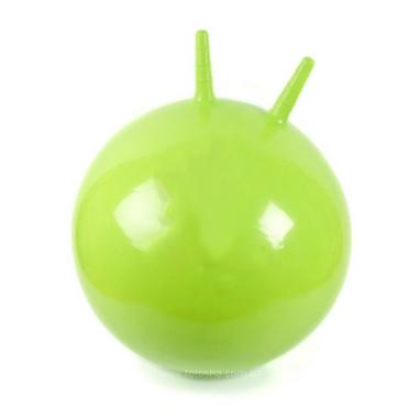 Мяч для фитнеса (фитбол) с рожками 65 см Profiball зеленый