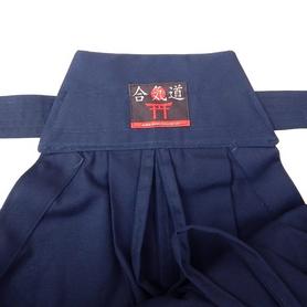 Фото 3 к товару Хакама смесовая синяя