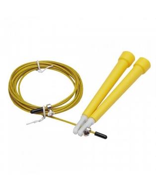 Скакалка скоростная Live Up Cable Jump Rope желтая