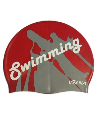 Шапочка для плавания Volna Swim Cap red