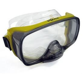 Маска для плавания Volna Foros желтая