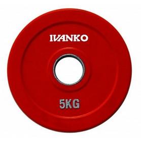 Диск обрезиненный олимпийский 5 кг Ivanko RCP19-5 цветной - 51 мм