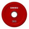 Диск обрезиненный олимпийский 5 кг Ivanko RCP19-5 цветной - 51 мм - фото 1