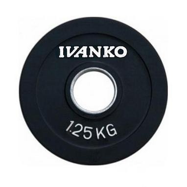 Диск обрезиненный олимпийский 1,25 кг Ivanko RCP19-1.25 цветной - 51 мм