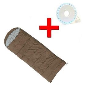 Мешок спальный (спальник) Mountain Outdoor коричневый широкий + подарок
