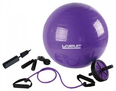 Набор для тренировок Live Up Yoga Set (фитбол, скакалка, ролик для пресса, эспандер)