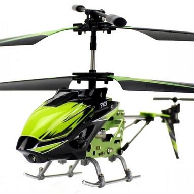 Вертолет на инфракрасном управлении 3-к WL Toys S929 с автопилотом зеленый