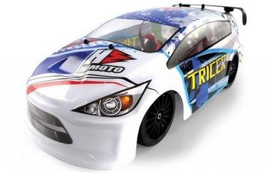 Автомобиль радиоуправляемый Himoto Tricer E18ORw Brushed 1:18 white