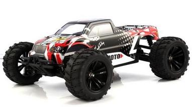 Автомобиль радиоуправляемый Himoto Монстр Bowie E10MTb Brushed 1:10 black