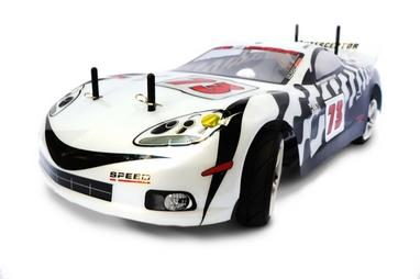 Автомобиль радиоуправляемый Himoto NASCADA HI5101w Brushed 1:10 white