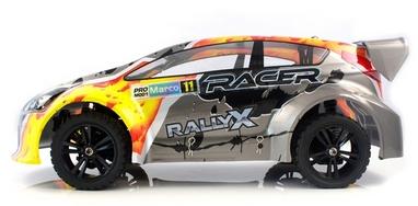 Автомобиль радиоуправляемый Himoto Ралли RallyX E10XRLg Brushed 1:10 silver