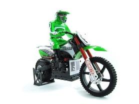 Мотоцикл радиоуправляемый Himoto Burstout MX400g Brushed 1:4 green