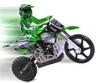 Мотоцикл радиоуправляемый Himoto Burstout MX400g Brushed 1:4 green - фото 2