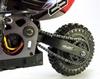 Мотоцикл радиоуправляемый Himoto Burstout MX400g Brushed 1:4 green - фото 5
