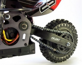Фото 4 к товару Мотоцикл радиоуправляемый Himoto Burstout MX400r Brushed 1:4 red