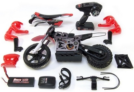 Фото 6 к товару Мотоцикл радиоуправляемый Himoto Burstout MX400r Brushed 1:4 red