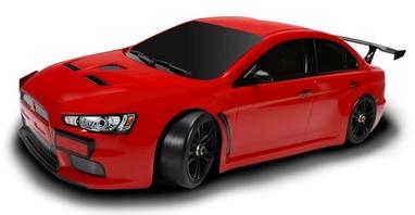 Автомобиль радиоуправляемый Team Magic E4JR Mitsubishi Evolution X 1:10 red