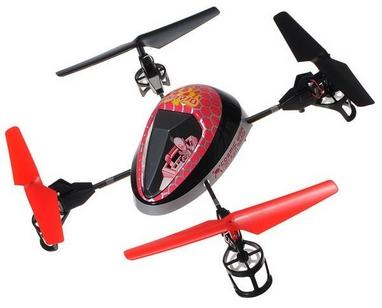 Квадрокоптер радиоуправляемый WL Toys V949 UFO Force фиолетовый