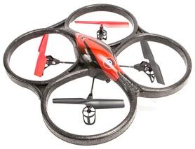 Квадрокоптер радиоуправляемый WL Toys V606 Cyclone Mini красный