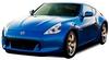 Автомобиль радиоуправляемый Nissan 370Z 1:43 микро синий - фото 1