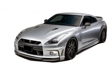 Автомобиль радиоуправляемый Nissan GT-R 1:43 микро серый