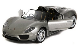 Фото 3 к товару Автомобиль радиоуправляемый Meizhi Porsche 918 1:24 серый