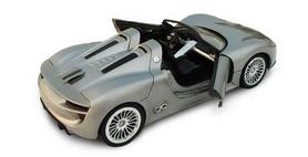 Фото 5 к товару Автомобиль радиоуправляемый Meizhi Porsche 918 1:24 серый