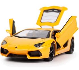 Фото 2 к товару Автомобиль радиоуправляемый Meizhi Lamborghini LP700 1:24 желтый