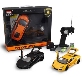 Фото 5 к товару Автомобиль радиоуправляемый Meizhi Lamborghini LP700 1:24 желтый