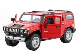 Фото 2 к товару Автомобиль радиоуправляемый Meizhi Hummer H2 1:24 красный