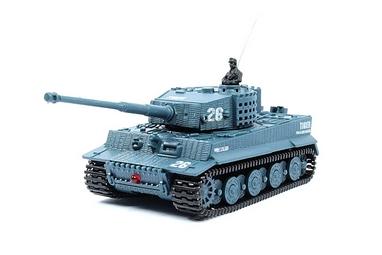 Танк радиоуправляемый Tiger 1:72 микро серый со звуком