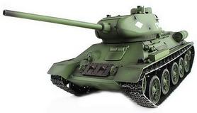 Танк радиоуправляемый Heng Long T-34 1:16 в металле с пневмопушкой и дымом
